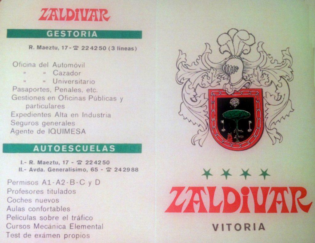 Zaldivar, desde 1960